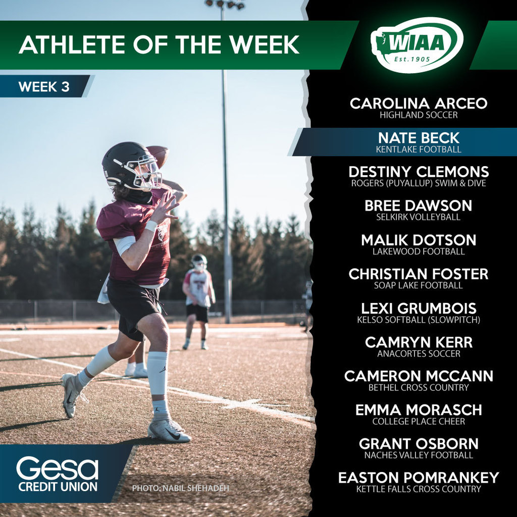 WIAA Athlete of the Week graphic